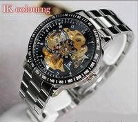 Luxury Brand IK men full steel watch self-wind watch military style men Wristwatch relogio relojes deportivos montre homme