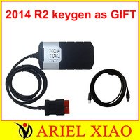 2pcs/lot TCS cdp pro plus SCANNER tools + newest 2014 R2 KEYGEN ON THE CD AS GIFT for Cars & Trucks 3 in 1 DHL FREE