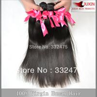 "Queen hair production straight  Peruvian  virgin  hair weaving  human straight hair 3pcs/lot  8'-34"" DHL free shipping"