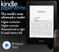 Kindle Paperwhite Wi-Fi, Paperwhite Display, Higher Resolution, Higher Contrast, Built-in Light