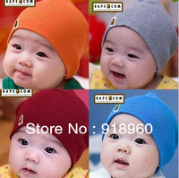 Free Shiping ALL Color Wholesale 5 PCS / Lot Cotton Infant Hat Skull Cap For 1-3 Years Toddler Infant Baby Boys & Girls