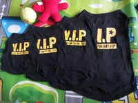 100% COTTON Small Pet Dog Clothes  PUPPY clothing T Shirt Vest Type size XS S M L -Black VIP
