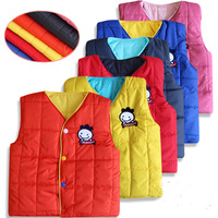 Free shipping children warm waistcoat vest for baby girl  2014 autumn and winter coat with both sides infant girl vest 5color