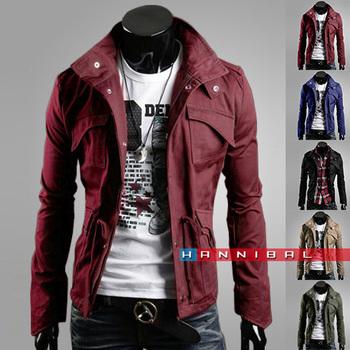 Wholesale&Retail 2015 Men's Fashion Brand Clothing ,Army Design Casual Men's Zipper Jackets,Autumn Quality Men's Slim Fit Coats