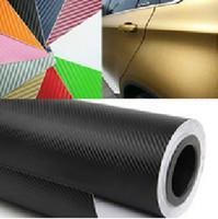 "FREESHIPPING 1.27X0.3Meter 3D carbon fiber vinyl film carbon fibre sticker (50X12""/127X30cm) 8 color option car sticker"