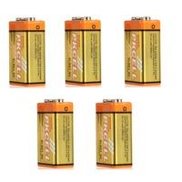 5pcs*  Super Alkaline  6LR61/9V  Dry Battery for Alarm, walkman,Instrumentation etc-PKCELL