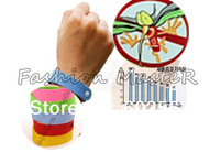 Mixed colors freeshipping genuine Camping bangle lock on bugs Mosquito wrist band midge bracelet  Mosquito repellent