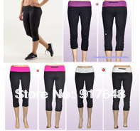 women new fashion 2014 summer spring lululemon pants & capris discount lulu lemon yoga pants women cheap lululemon crops bottem
