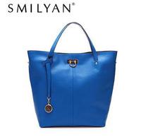 Smilyan high quality genuine leather women handbag fashion casual leather shoulder bags 100% genuine leather bags for women