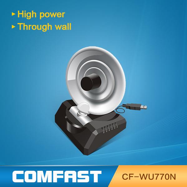 Free expédition de baisse 150 2mbps radar. antenne adaptateur wifi usb carte réseau sans fil avec la boîte au détail comfast cfwu770n