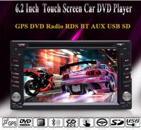 Touch Screen GPS Car Stereo / GPS Navi / DVD / Radio / RDS / BT / AUX / USB / SD / Steering Wheel Control