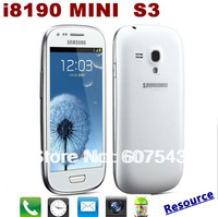 Free shippping i8190 Mini i9300  S3 Mini 1:1 MTK6515 Andorid 4.1.1 4.0 inch 800*480 super AMOLED +WIFI Full function