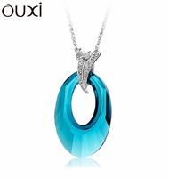 NLA009 Made With Verified Swarovski Elements Crystal  Pendant Necklace Thick 18K/White Gold Plated Free Shipping