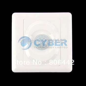 New AC 180-240V Infrared Save Energy Motion PIR Sensor Automatic Light Switch White TK0524