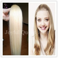 Free Shpping!! Silky Straight Virgin Brazilian Blonde Hair 2pcs/ lot Long Lasting No Tangle Brazilian Hair
