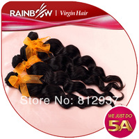 Rainbow hair products brazilian loose wave,Queen beauty hair products 3 bundles Brazilian wavy hair