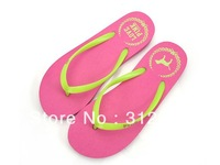 Hot Sale PINK Flip Flops Slippers Flat  Comfortable Summer Beach Shoes, Casual Sandals For Women