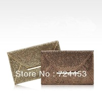 free shipping Designer brand handbag glittered envelope bag day clutch evening bag handbag party bag hot sale !