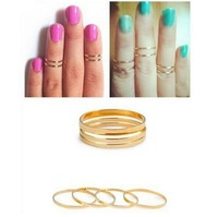 2013 New Fashion Hot Selling Shiny Finger Midi Knuckle Ring Women Two Colors Optional Free Shipping