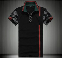 2013 top designer New Famous Brand Fashion Men's Short Sleeve T-shirt,Quality Casual Mens  Shirts plus big size 4XL 1118