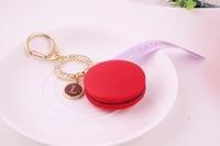 2014 Rushed Trendy Women Crystal Laduree Macaron Keychain Keyring Bag Charm Violet From Japan New Christmas Gifts Wedding Gift