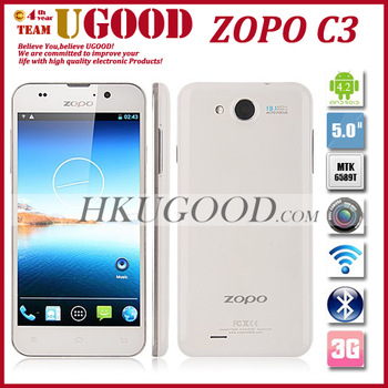 """Hot Selling ZOPO C3 MTK6589T quad core 5"""" FHD Gorilla Screen Android 4.2 Mobile Phone 1G 16GROM 13.1MP camera OTA online update"""