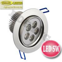 6 pcs/lot 5W LED downlights AC85-265v Taiwan Epistar acrylic conjoined lens 2 years warranty