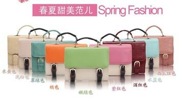 2014 Fashion Brand Solid Tote Shoulder Bags Candy Color Handbag Satchel Lady Crossbody Bag High Quality Schoolbag
