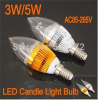 5pcs/lot 3W 5W E14/E27 LED candle light bulb 9W15W energy saving lamp 110V 220V240V warm white/cold white Two-year warranty