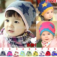 Free Shipping 2014 Spring  Autumn Baby Hat& Cap Big Star Children Cotton Cap Infant Toddler Beanie Skullies & Beanies Unisex