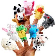 wholesale finger puppets story set toy,10pcs animal puppet,wholesale baby toy finger doll toys,fantoche de mao,fantoches de dedo(China (Mainland))