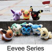 """Free shipping Pokemon Umbreon 8pcs/lot 6"""" Eevee Espeon Jolteon Vaporeon Flareon Glaceon Leafeon Plush Toys Soft Stuffed animals"""