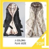 free shipping Hot Sale Faux fur lining women's winter warm long fur coat jacket clothes wholesale, drop shipping,L0354