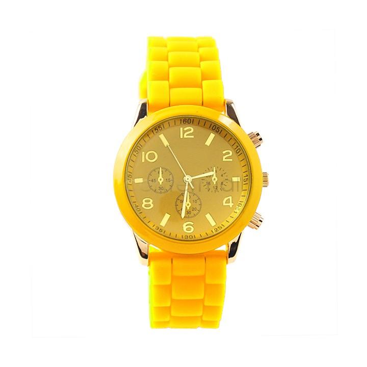 Geneva Unisex Quartz watch New Designer sports brand silicone watch jelly watch quartz watch for women men SV001155 b9(China (Mainland))