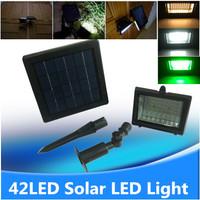 Outdoor Lawn Lamp Solar Powered panel LED Spotlight 42led flood lighting for garden decor white green solar light lamp luminaria