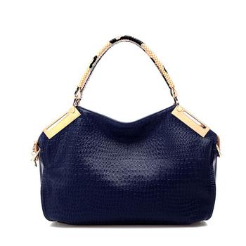 HOT Crocodile Grain High-Quality Ladies' Fashion PU Leather Leisure Obique Totes/Shoulder Bag Purse Free postage handbag HS-4-L9