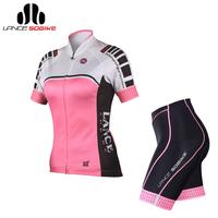 SOBIKE Women's Sportswear Bike Bicycle Cycle Cycling Suits YKK Rain-Tex Air-Flex Short Sleeve Jersey Pad Shorts-Heroine, 2Color