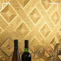 Papel de parede roll mural wallpaper 3D roll modern for walls roll kids classic wallpaper Gold striped home decor tepetes room