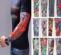 13 Specials Wholesale Hot Tattoo Sleeve Arm Leg Warmers Outdoor Riding Simulation Sunscreen UV Tattoo Nylon Stretchy Arm Sleeve