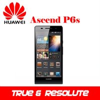 SG Free Shipping Original Huawei Ascend P6 Quad Core RAM 2G ROM 8G 3G Mobile Phone 6.18mm The Slimmest Dual Carema 8.0MP GPS