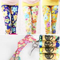 5pcs/lot girl candy color flower legging children summer autumn skinny leggings 19 color to choose158