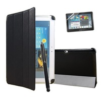 New style Magnetic Ultra Slim Leather Case Cover For Samsung Galaxy Tab 2 10.1 P5100 P5110 + 1 Stylus Pen