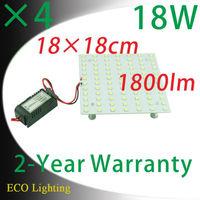 4pcs/Lot  18W 18cm*18cm Square Surface Mounted Led Ceiling Lights Panel Lights Led Magnetic Aluminum Panel Board Lights
