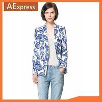 Better Quality, Women Ceramic Printed Blazer, Casual Suit for Ladies, Fashion Female Jacket, Boyfriend Blazer Women S M L