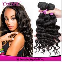 3 Bundles Regular Wavy Peruvian Hair Weft,Top Qualtiy Grade 5A Virgin Hair,Natural Color,12-28 Inches Aliexpress Yvonne Hair