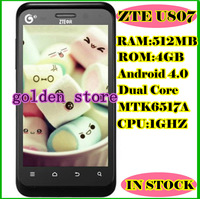 Free Shipping ZTE u807 3G Dual Core Android4.0 Smartphone  Cheap China phoneSupport Multiple Languages Phone