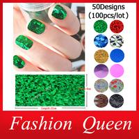 Free Shipping Nail Transfer Foil Stickers Rolls,50 Designs(100pcs/lot) 6cmX21cm DIY Nail Art Craft Decoration Tools Accessories
