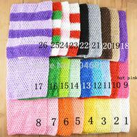 New Arrival 20cm X 23cm Baby Girl 9Inch Crochet Tutu Tube Tops Chest Wrap Wide Crochet headbands Free Shipping 10pcs/lot H018