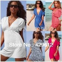 New Women Sexy Nylon Swimwear Dress Bikini Cover Up Beach Free shipping 3630