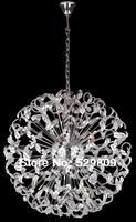 Free shipping modern ball design chrome Crystal Chandelier G9 light source lustres de cristal Dia100*H180cm large stair lighting